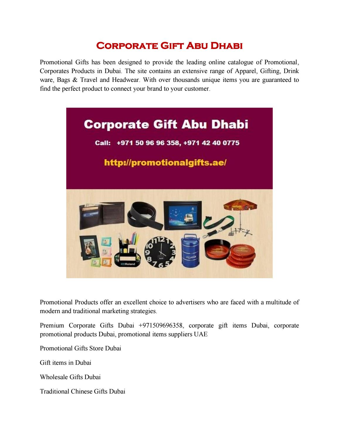 Corporate Gift Abu Dhabi by Revti - issuu