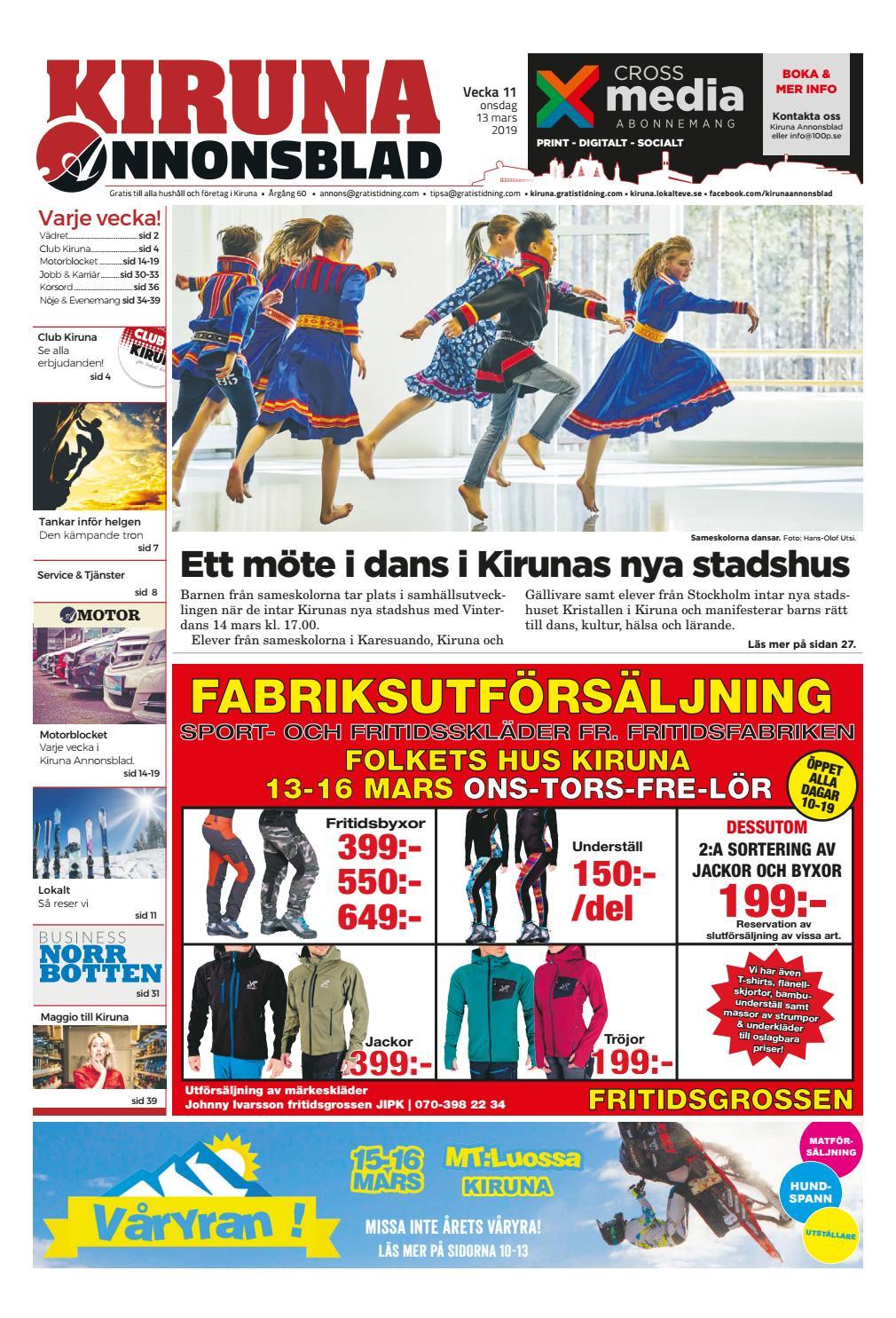 3b59ce5973ed Kiruna Annonsblad vecka 11, 2019 by Svenska Civildatalogerna AB - issuu