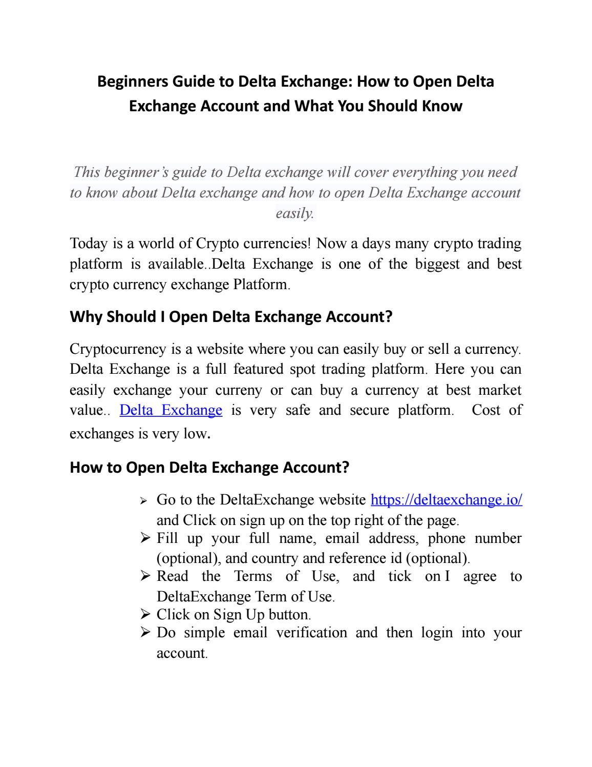 how to open a cryptocurrency exchange account