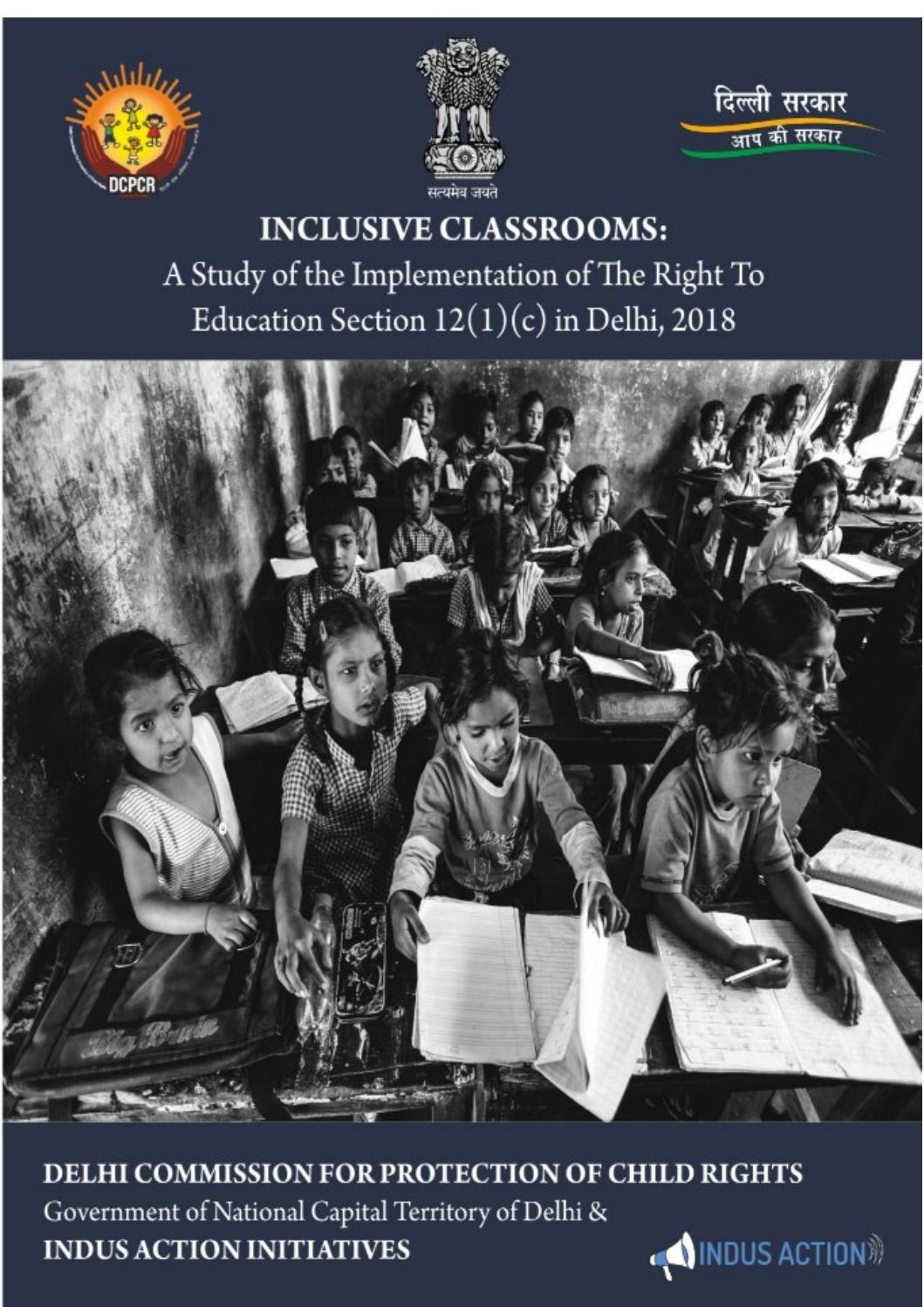 Inclusive Classrooms: A study on the implementation of RTE