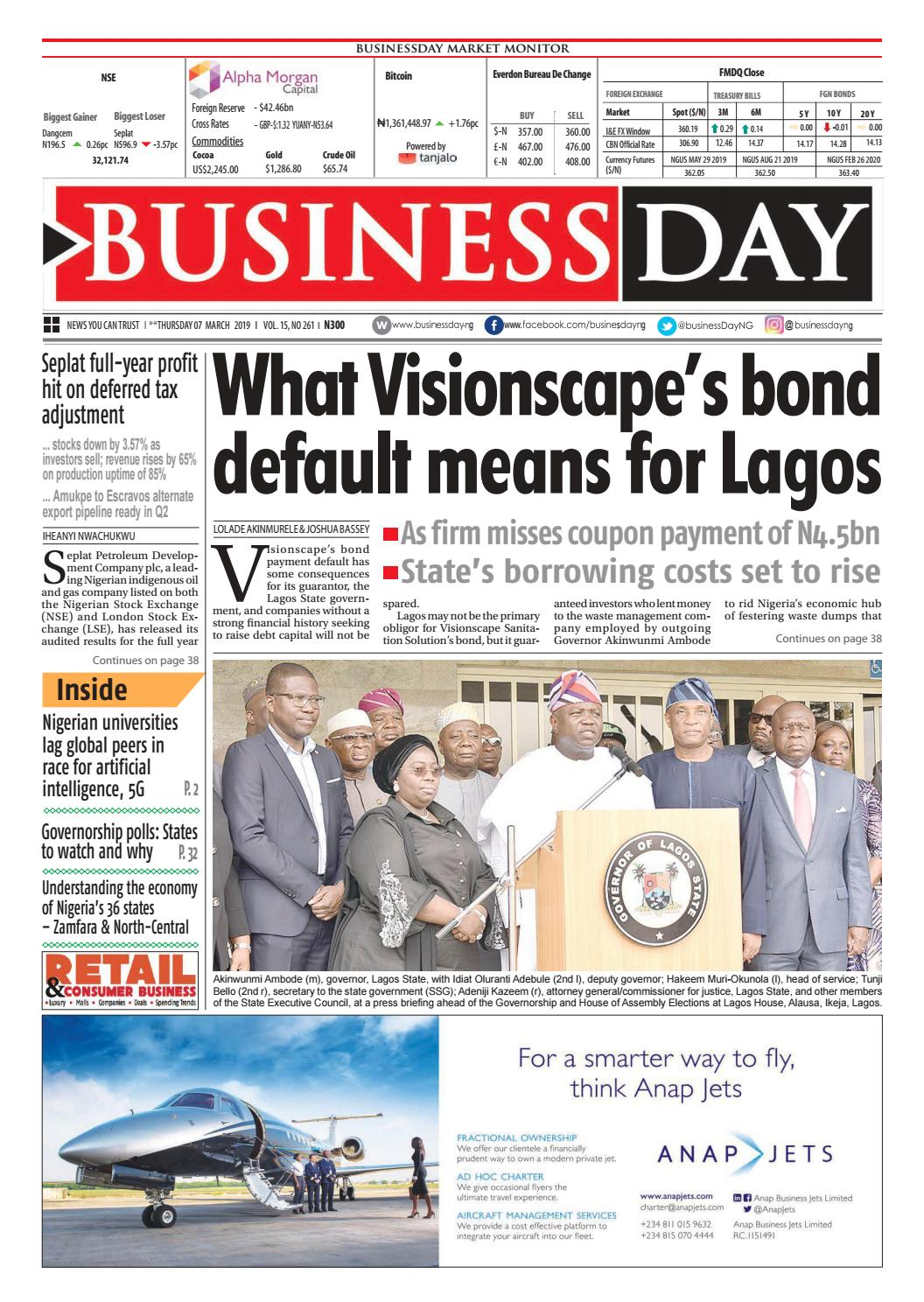 BusinessDay 07 Mar 2019 by BusinessDay - issuu