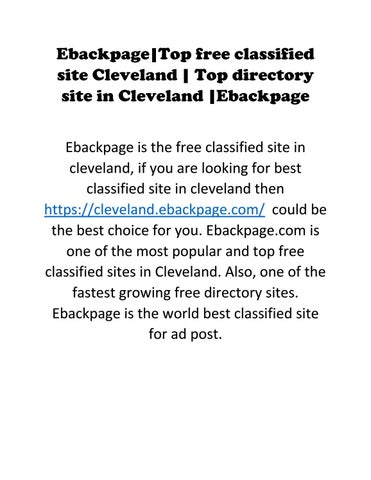 Top free classified site Cleveland | Top directory site in Cleveland