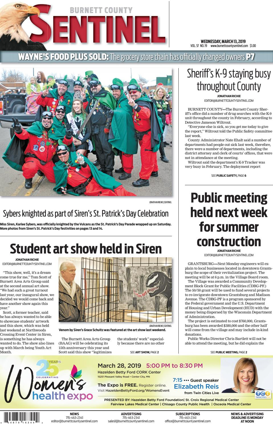 The Burnett County Sentinel 3-13-2019 by Burnett County Sentinel - issuu