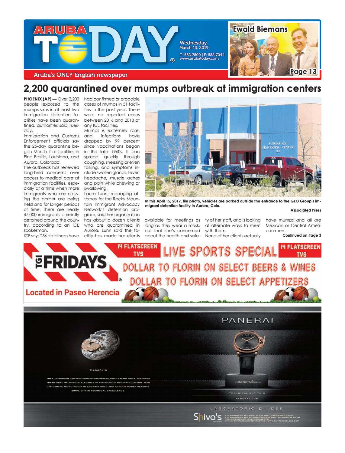 March 13 2019 By Aruba Today Issuu