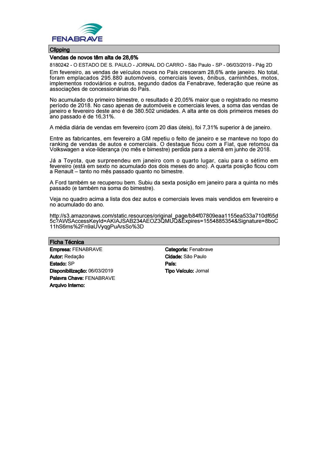 93a13c1538 Clipping FENABRAVE 06.03.2019 by MCE Comunicação - issuu