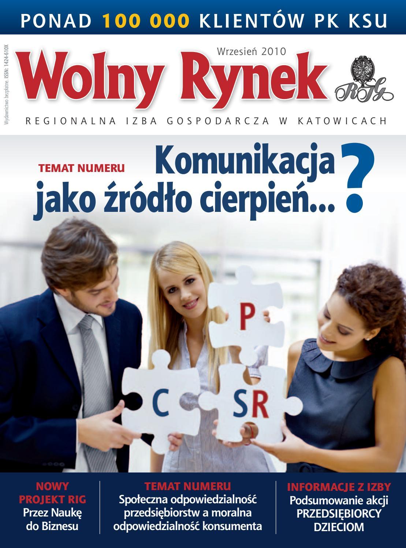 f800e94b694cb3 Wolny Rynek - wrzesień 2010 by Regionalna Izba Gospodarcza w Katowicach -  issuu