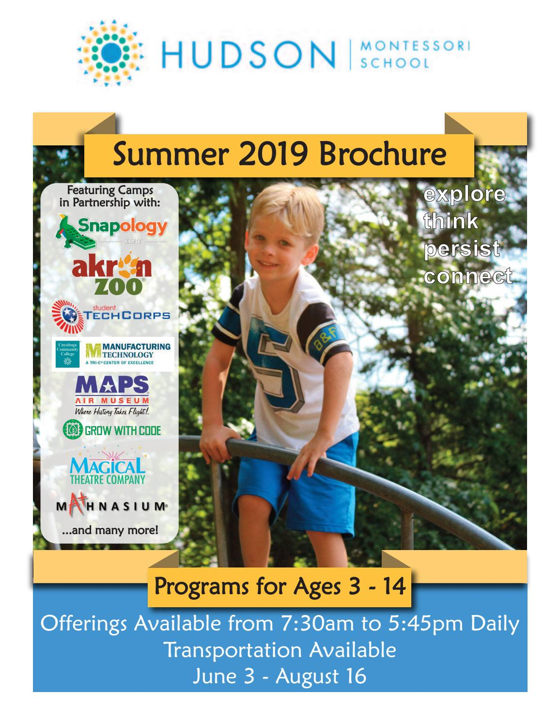 Hudson Montessori Summer Camp 2019 Brochure by Hudson