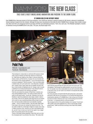 Page 28 of NAMM 2019: FIRST-TIMERS BRING INNOVATION AND PASSION TO THE SHOW FLOOR.