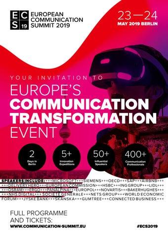 European Communication Summit 2019 by Quadriga Media Berlin
