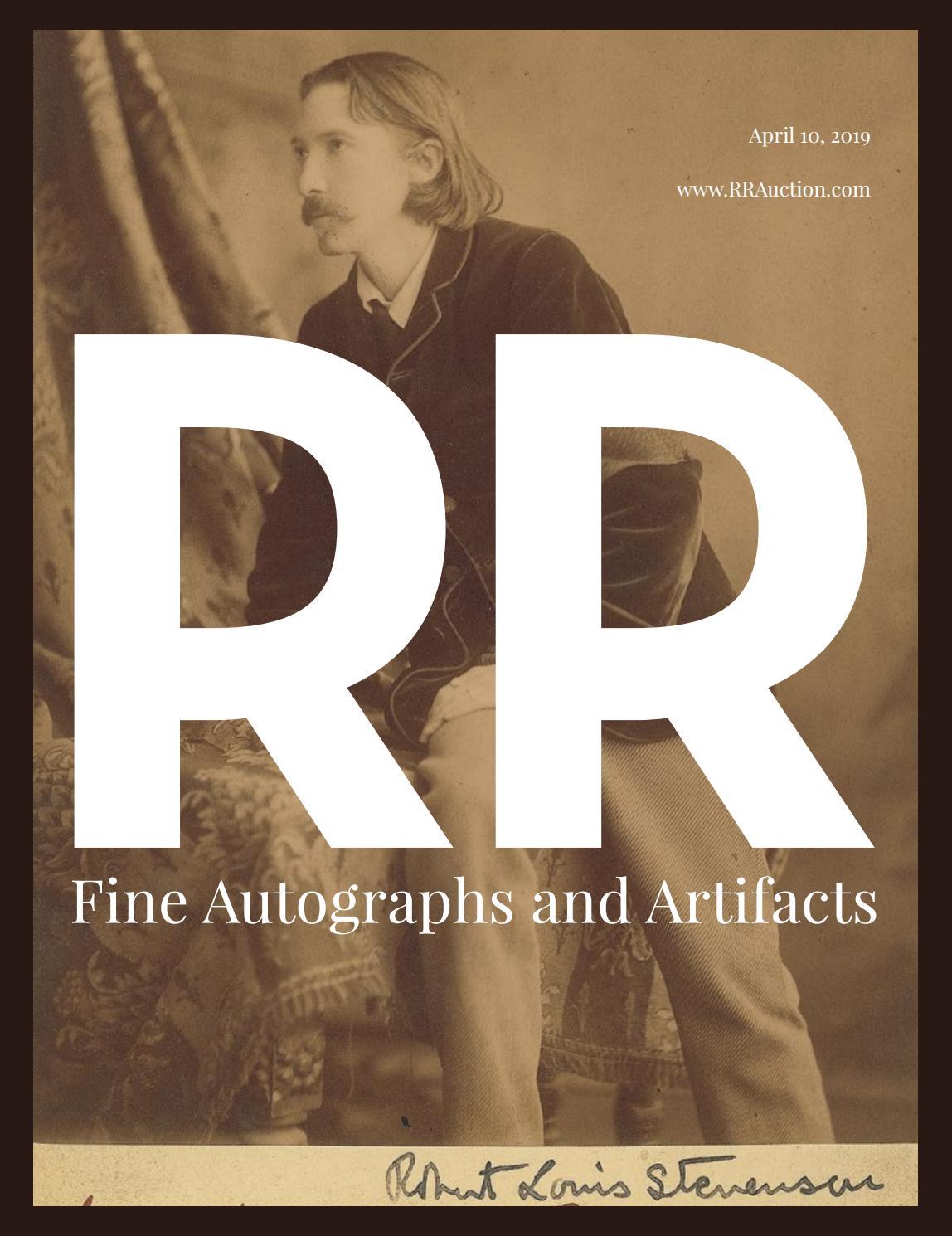 3613575e45d1 RR Auction  Fine Autographs and Artifacts featuring Pop Culture by ...