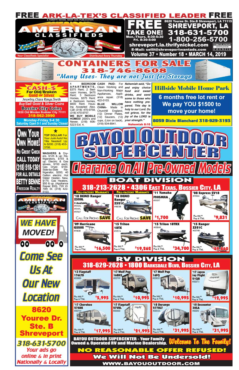 American Classifieds Shreveport, LA  March 14th, 2019 by