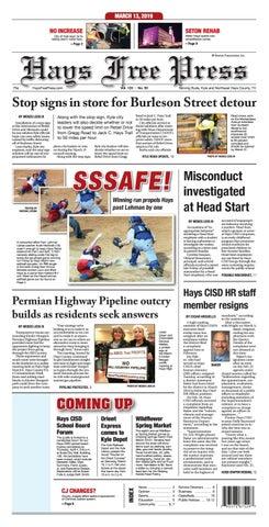 Hays Free Press March 13, 2019 by Hays Free Press/News-Dispatch - issuu
