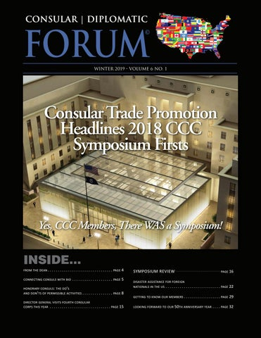 Consular | Diplomatic FORUM - Spring 2018, Vol  5 No  1 by Gina