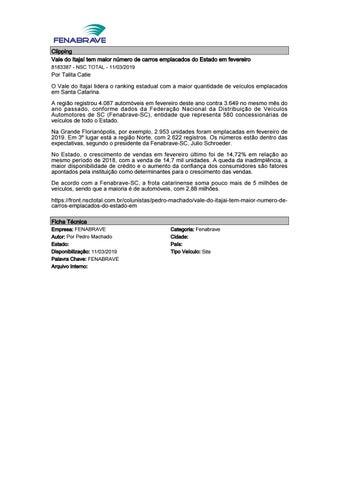 d295698b4 Clipping FENABRAVE 12.03.2019 by MCE Comunicação - issuu