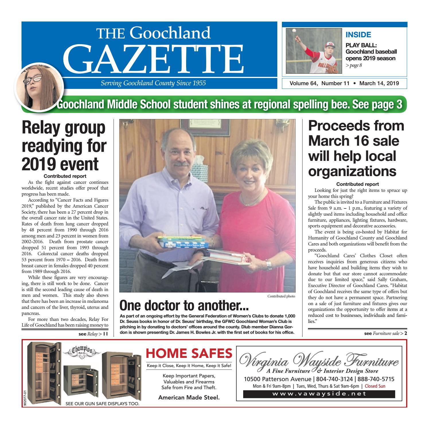 3/13/2019 by Goochland Gazette - issuu