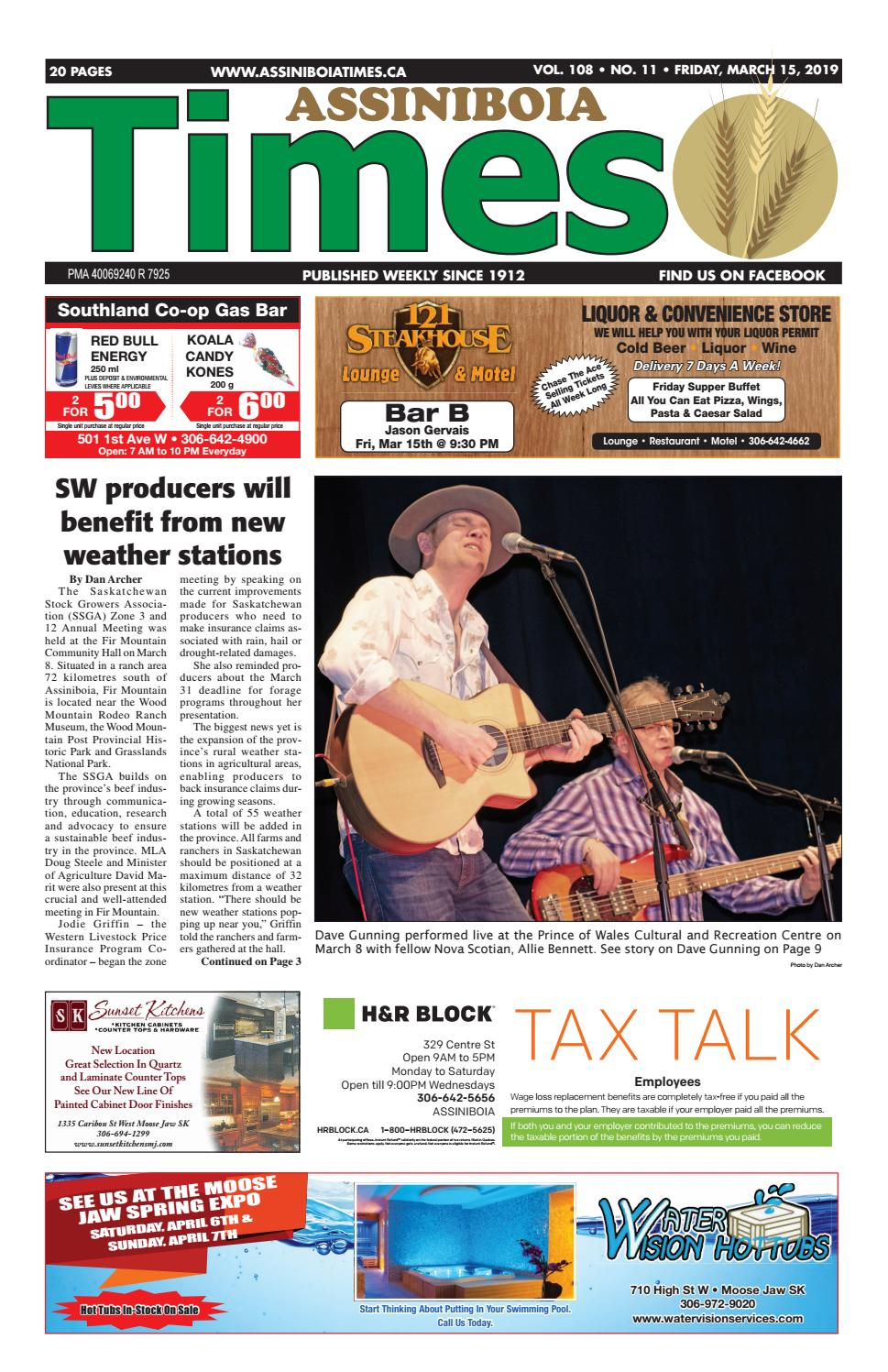 Assiniboia Times, March 15th, 2019 by Assiniboia Times - issuu