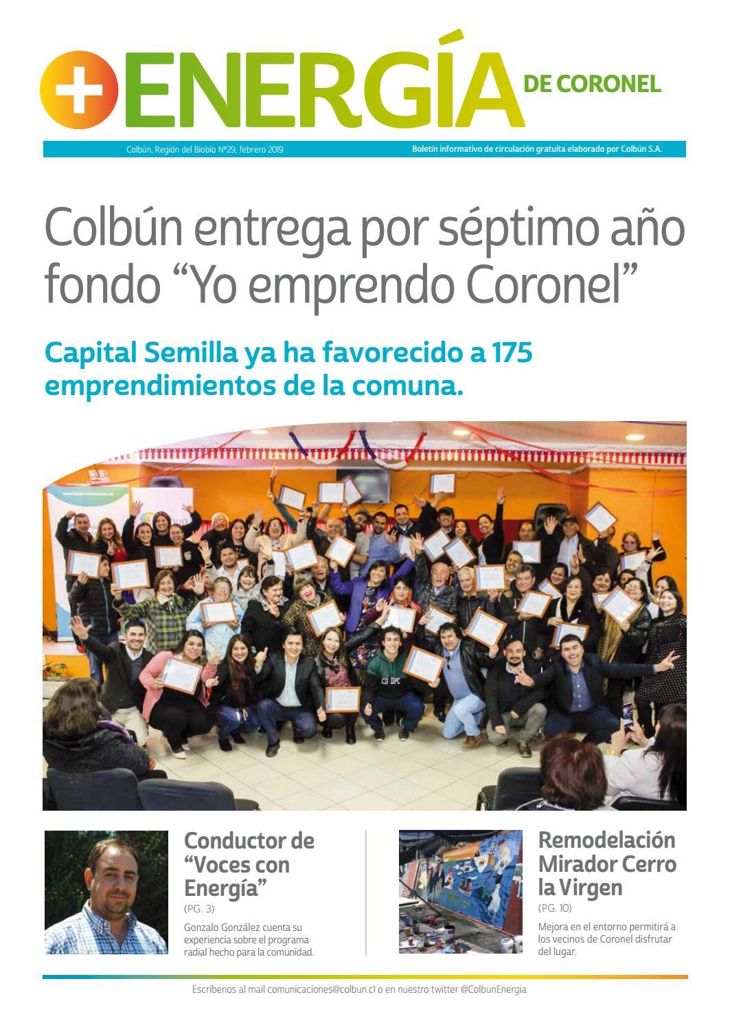 eaa1ffe487f6d + Energía Coronel - n°29 febrero 2019 by Colbún S.A. - issuu