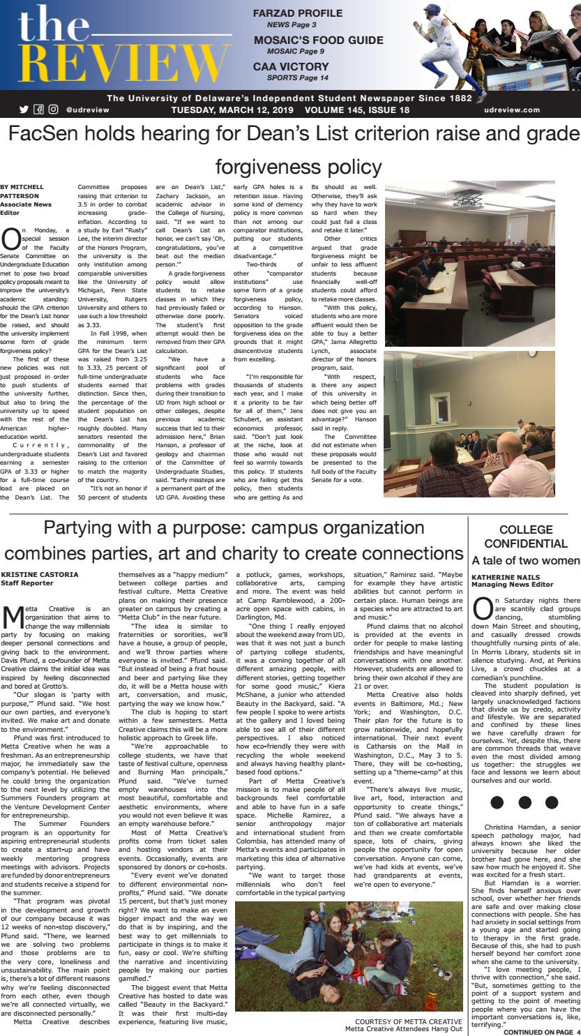 201fe102c79 March 13, 2019 - Issue 18, Volume 145 by The Review - issuu