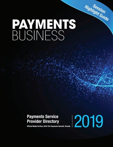 2019 Payments Summit Provider Directory by Lloydmedia Inc