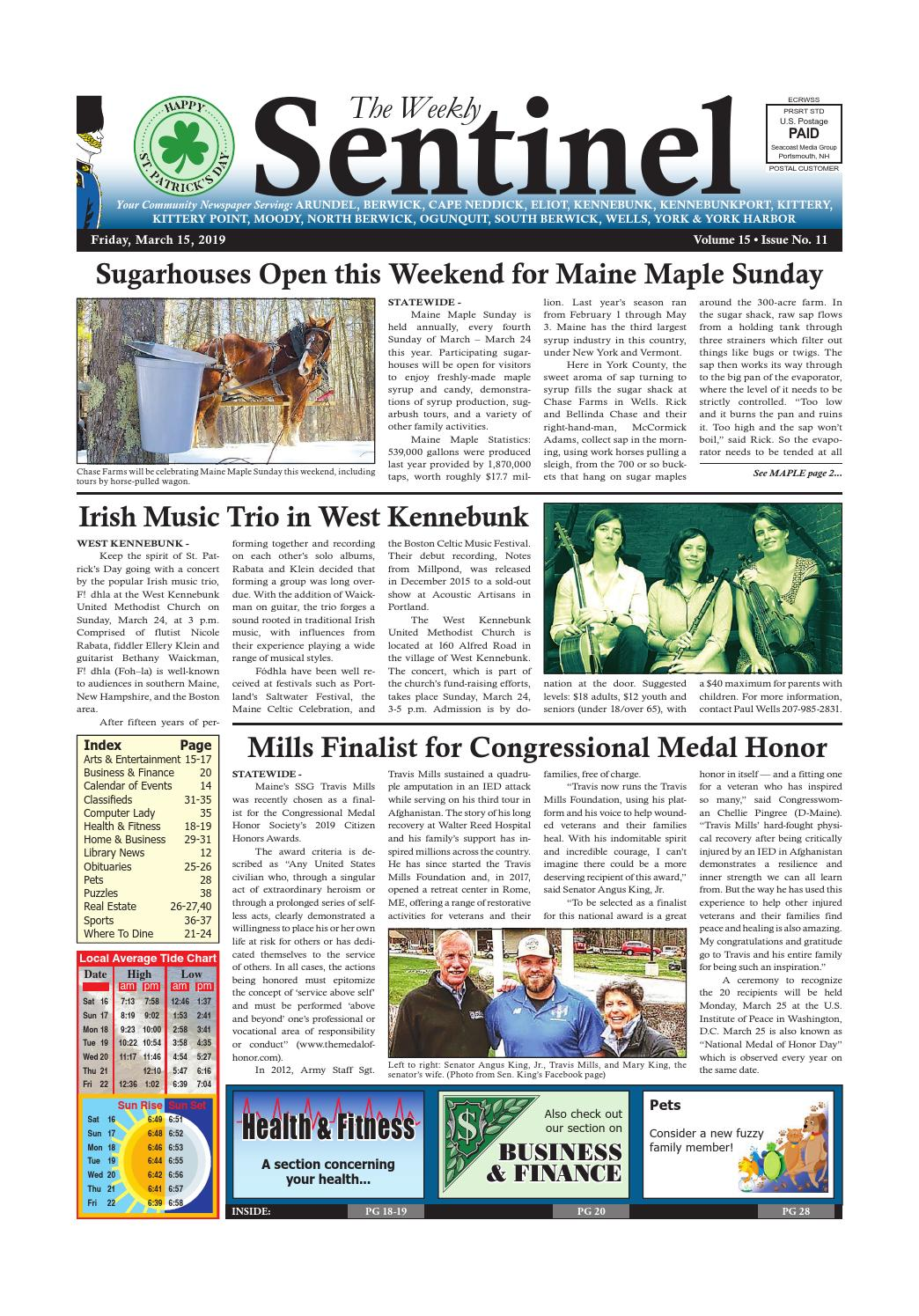 WS Mar  15, 2019 by Weekly Sentinel - issuu