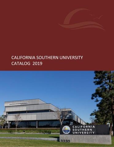 California Southern University 2019 Catalog By California