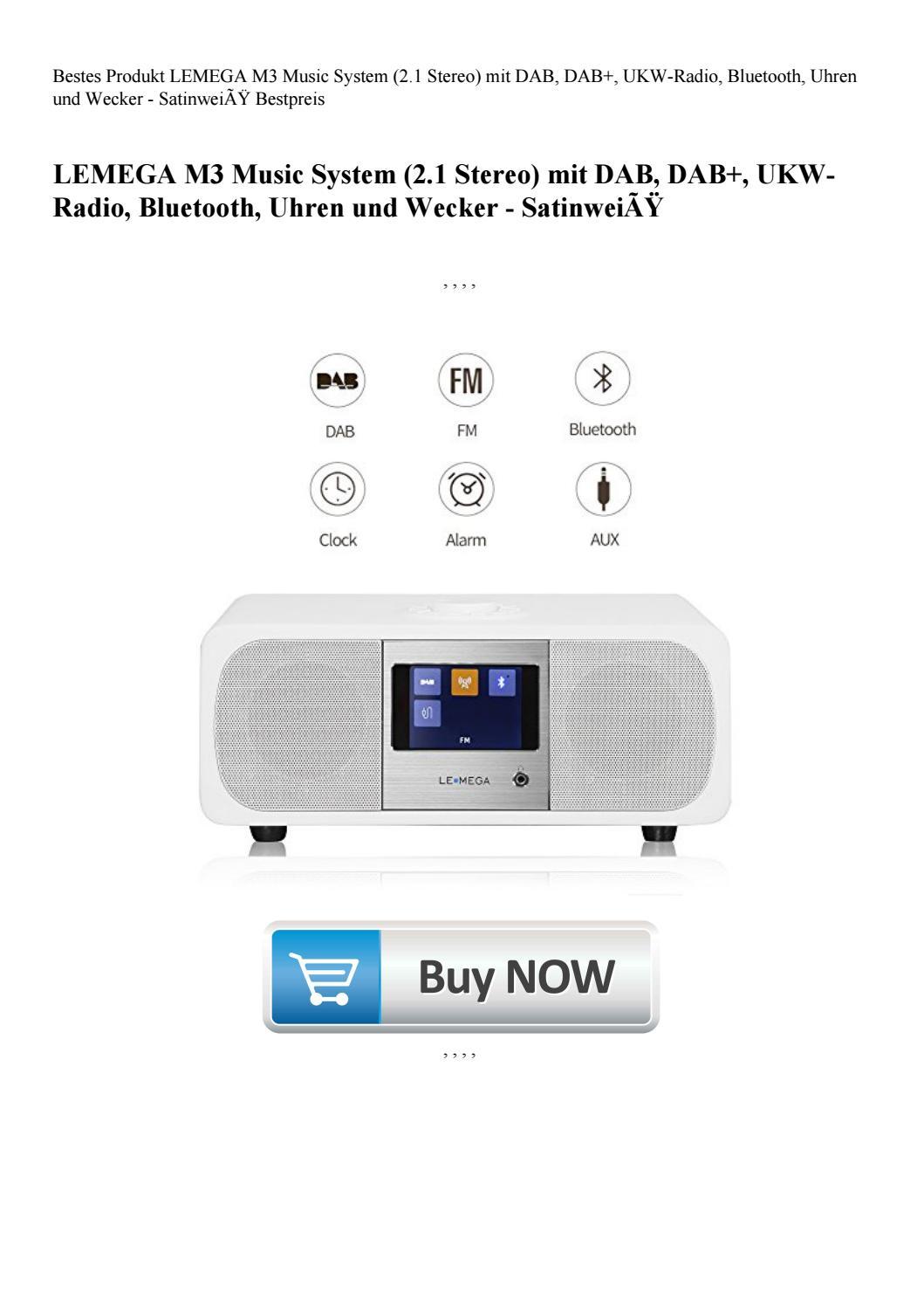 UKW-Radio LEMEGA M3 Music System Uhren 2.1 Stereo Bluetooth mit DAB DAB+