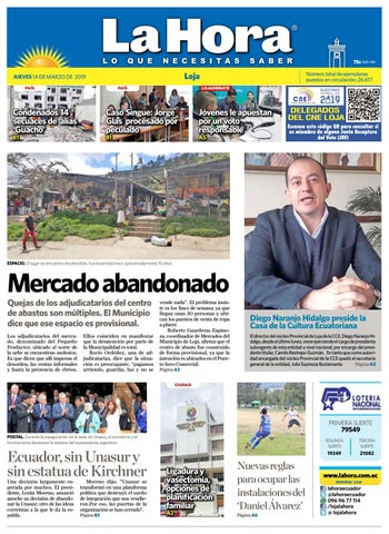 a60b24e340 Diario La Hora Loja 14 de Marzo 2019 by Diario La Hora Ecuador - issuu