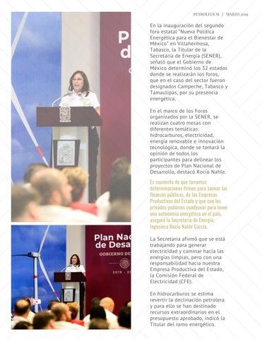 Page 5 of PLAN NACIONAL DE DESARROLLO; UNA NUEVA POLÍTICA ENERGÉTICA PARA EL BIENESTAR DE MÉXICO