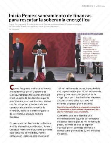 Page 9 of Inicia Pemex saneamiento de finanzas para rescatar la soberanía energética