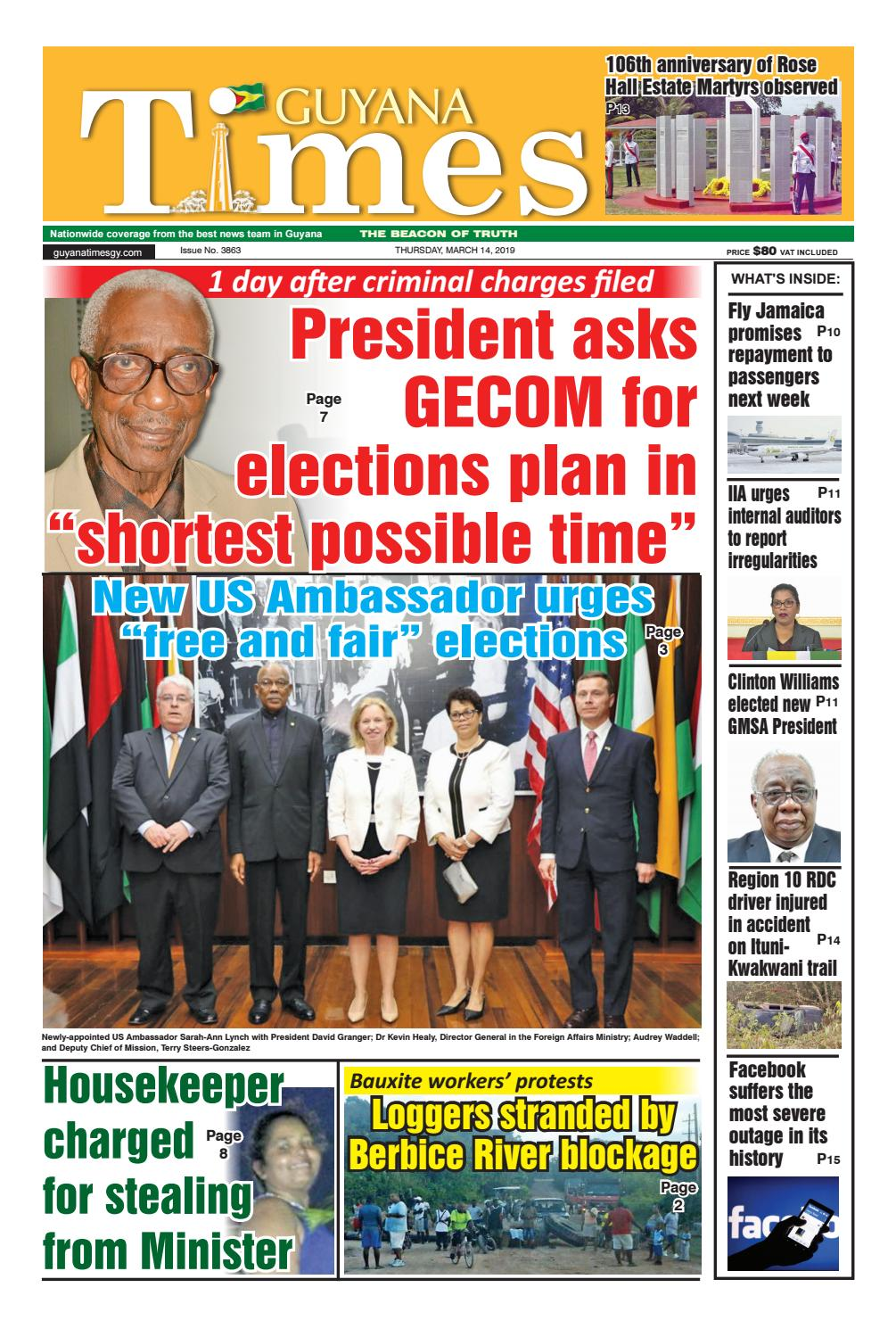Guyana Times - Thursday, March 14, 2019 by Gytimes - issuu