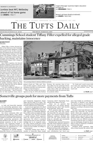 The Tufts Daily - Thursday, March 14, 2019 by Tufts Daily - issuu