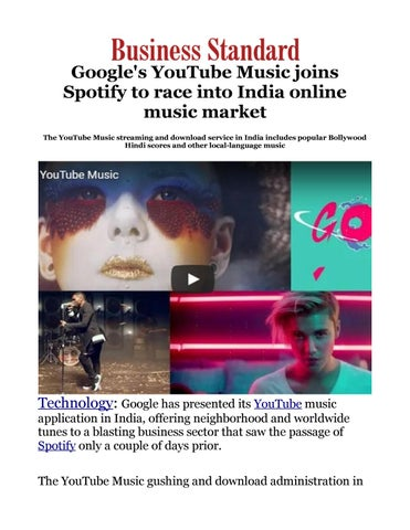 Google's YouTube Music joins Spotify to race into India