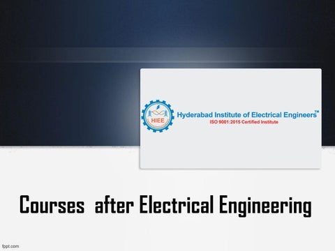 Courses after Electrical Engineering, Institute of Solar Engineering