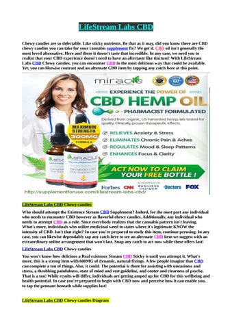 10 Laws Of LifeStream Labs CBD by Helth Beauty - issuu