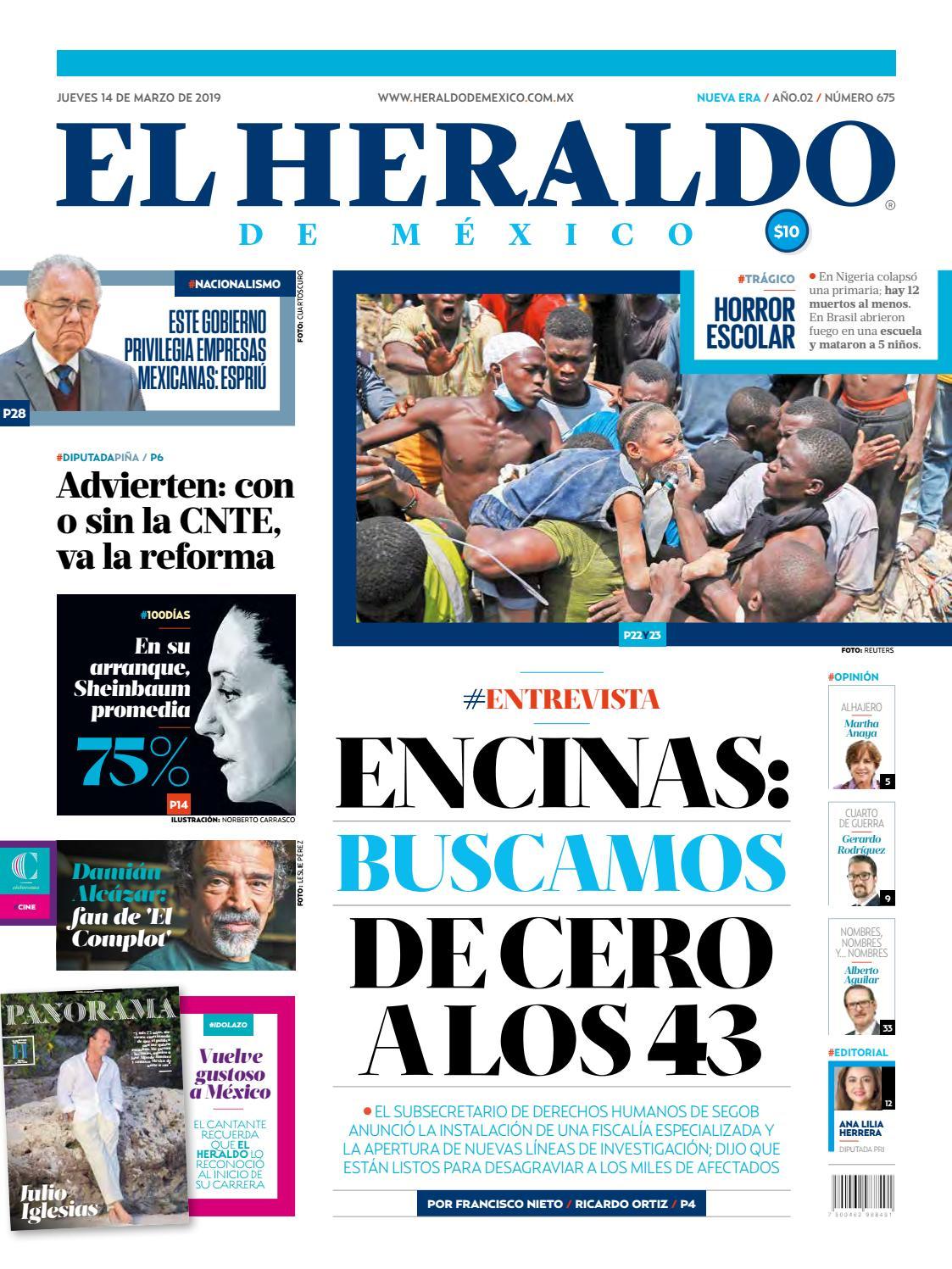 Jueves 14 De Marzo De 2019 By El Heraldo De México Issuu