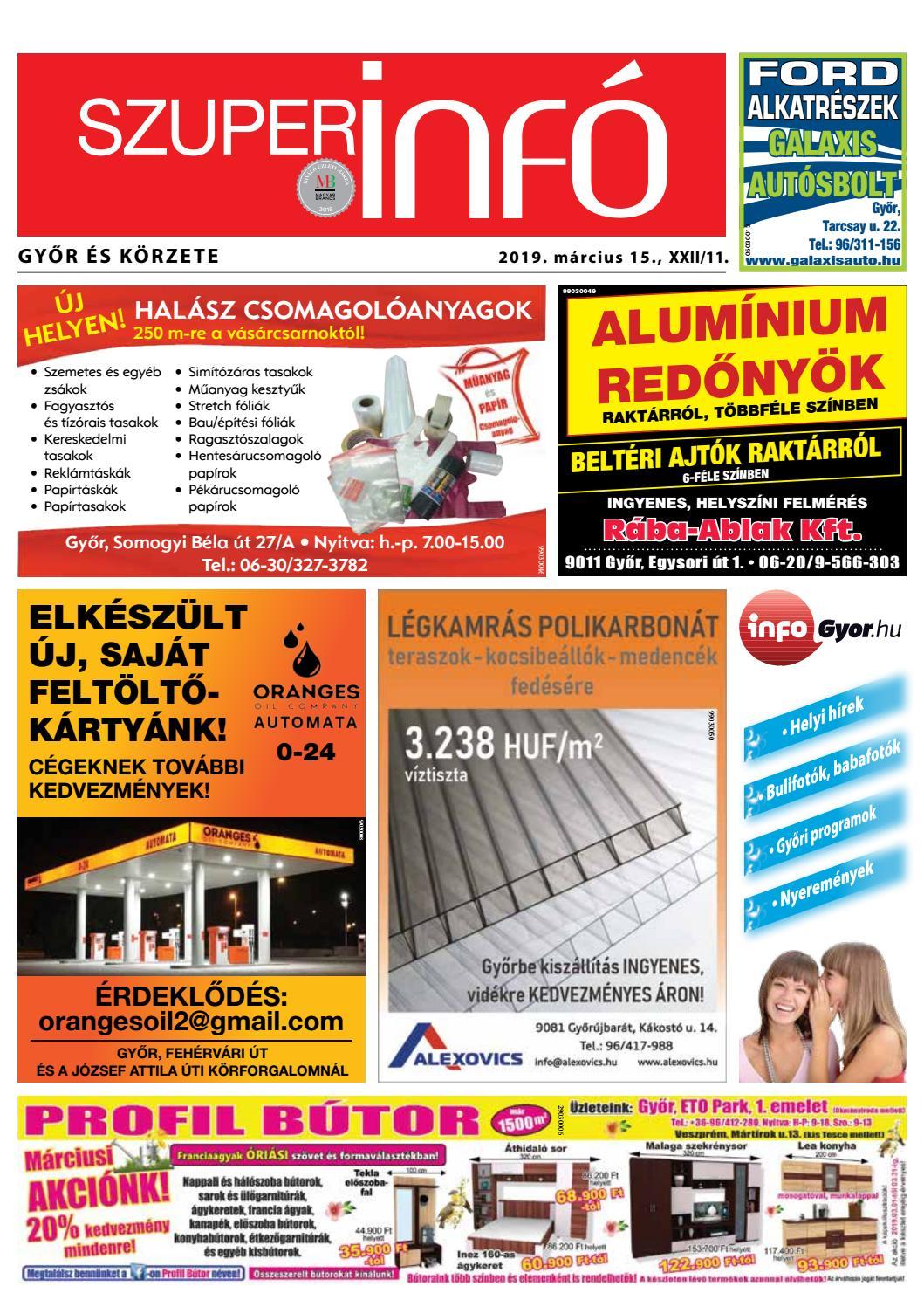 d7847da67081 Győri Szuperinfó XXII./11– 2019.03.15. by Arrabonamedia - issuu