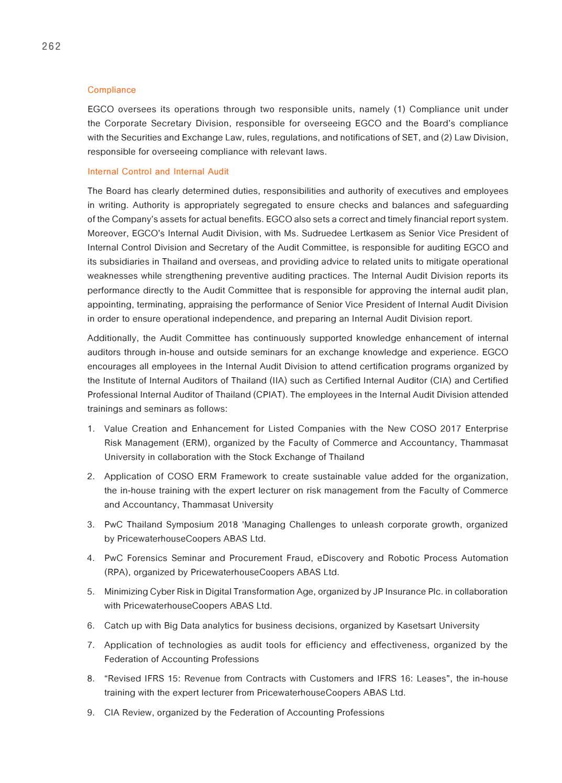 EGCO : Annual Report 2018 EN by Orapan Kokong - issuu