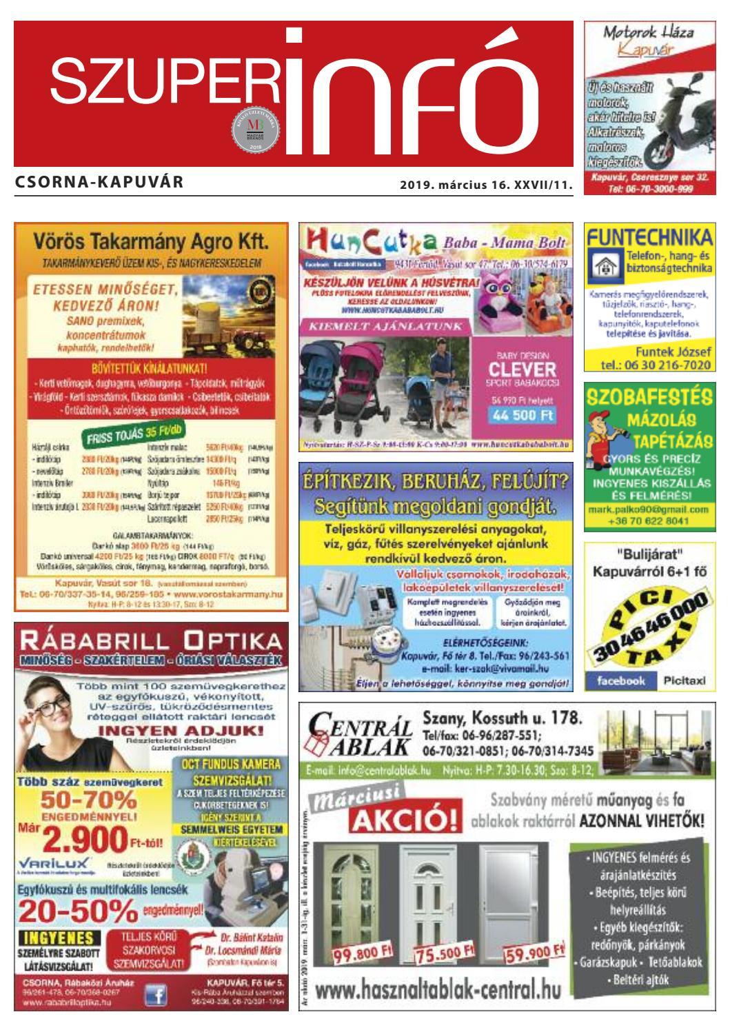0267dc671c2a Csorna-Kapuvár Szuperinfó 11. hét by Info Rbakoz - issuu