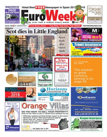 3849ae173 Euro Weekly News - Costa Blanca North 14 - 20 March 2019 Issue 1758 ...