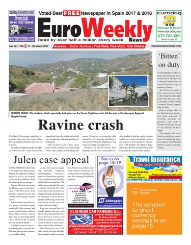 Euro Weekly News - Axarquia 14 - 20 March 2019 Issue 1758 by