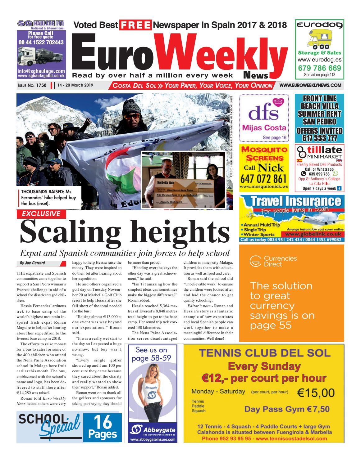 1799cec2de Euro Weekly News - Costa del Sol 14 - 20 March 2019 Issue 1758 by Euro  Weekly News Media S.A. - issuu