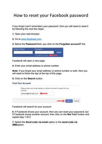 How to reset your Facebook password by Peter nicolsowan - issuu