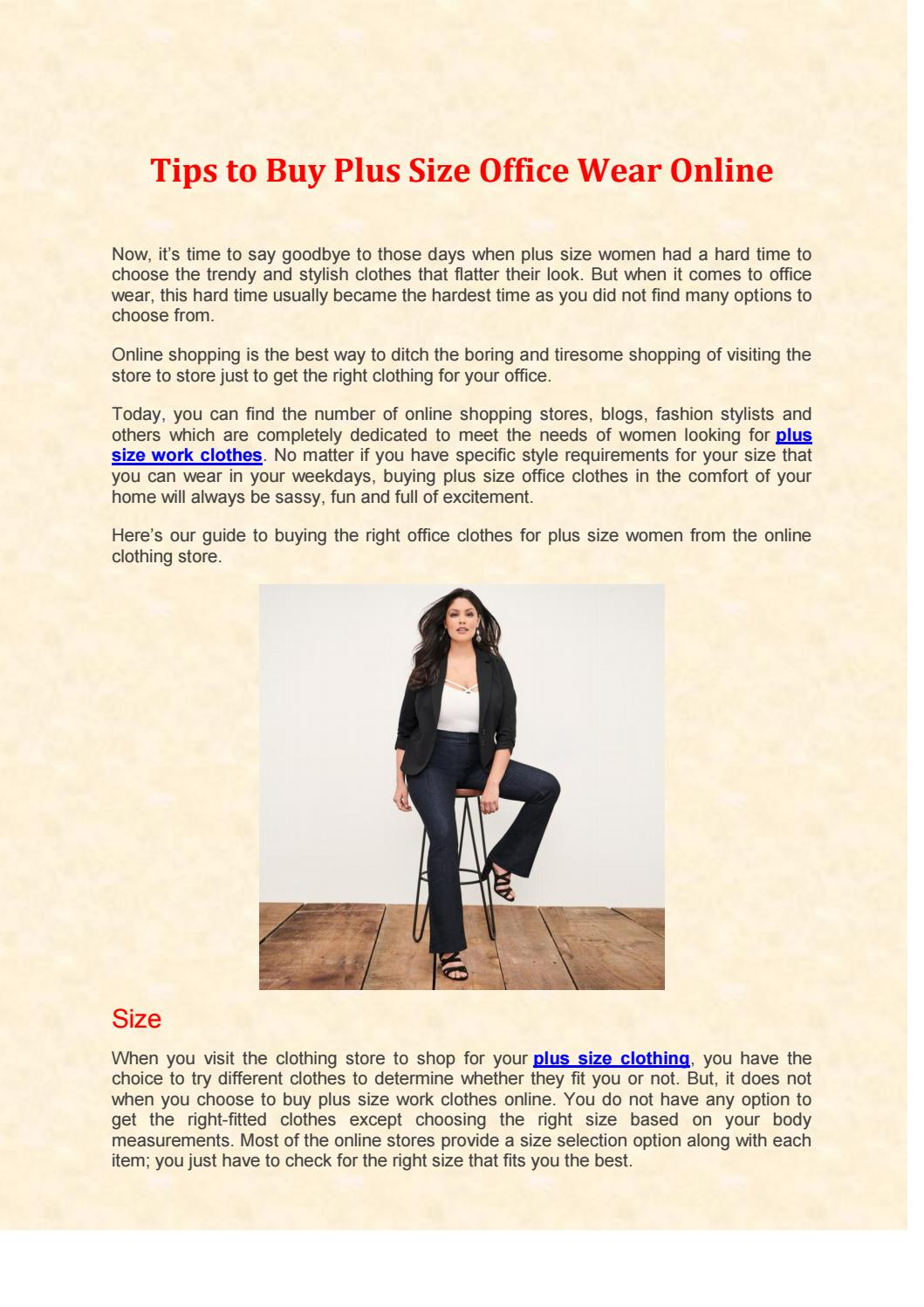 Tips To Plus Size Office Wear Online By Sherly Adams Issuu