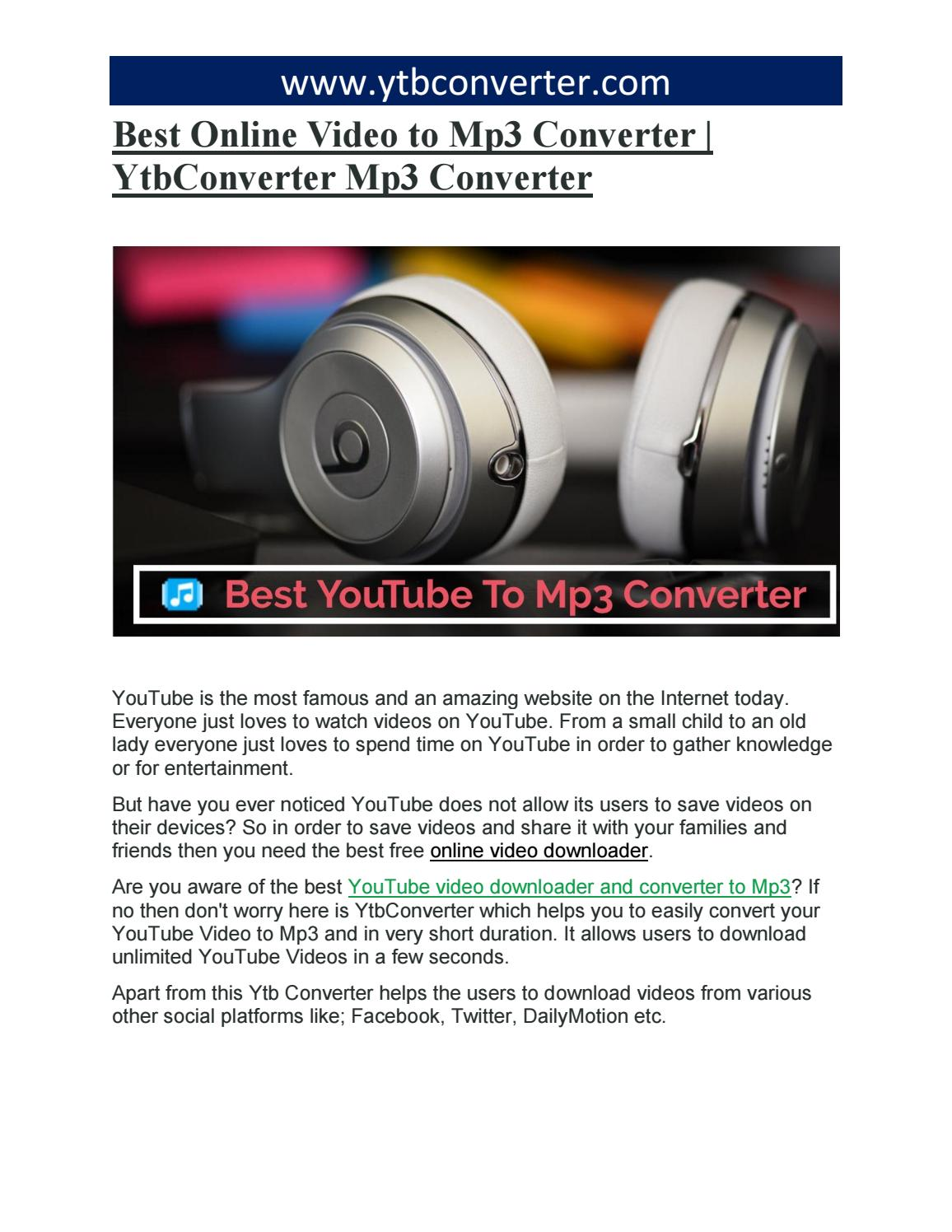 free download online youtube videos to mp3 converter