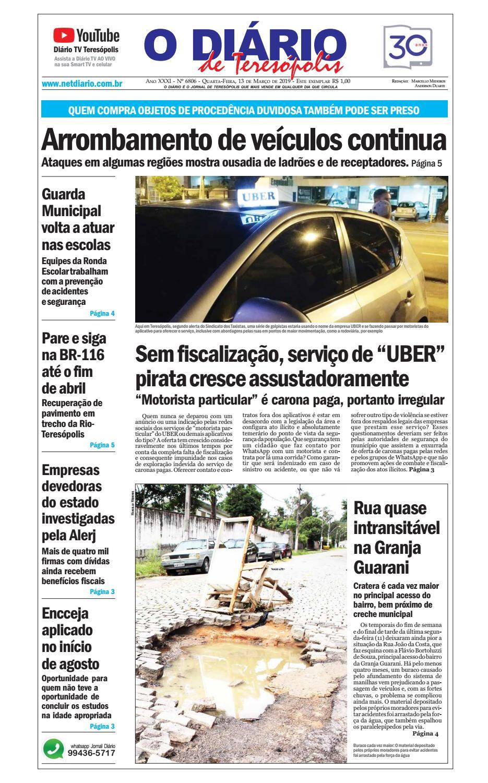 f8725afad Jornal O Diário de Teresópolis 13/03/2019 by O Diário de Teresópolis - issuu