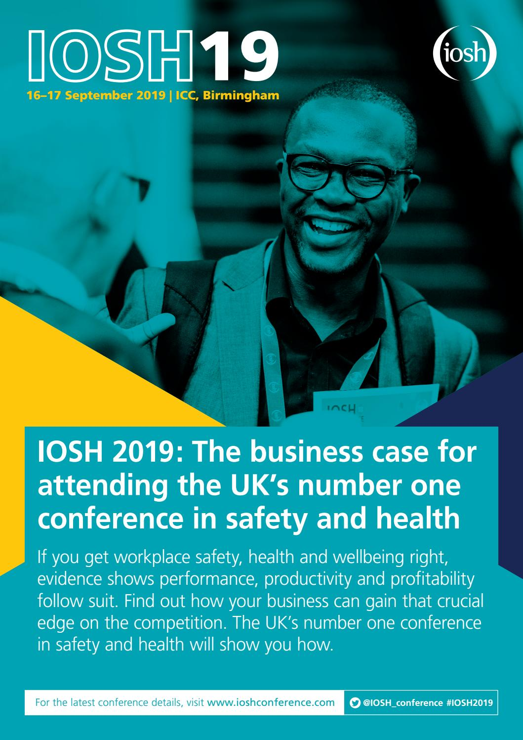 IOSH 2019: The Business Case by IOSHNetworks - issuu