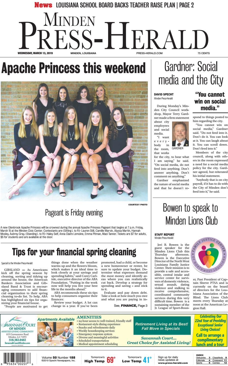 03-13-2019 Minden Press-Herald e-Edition by Minden Press