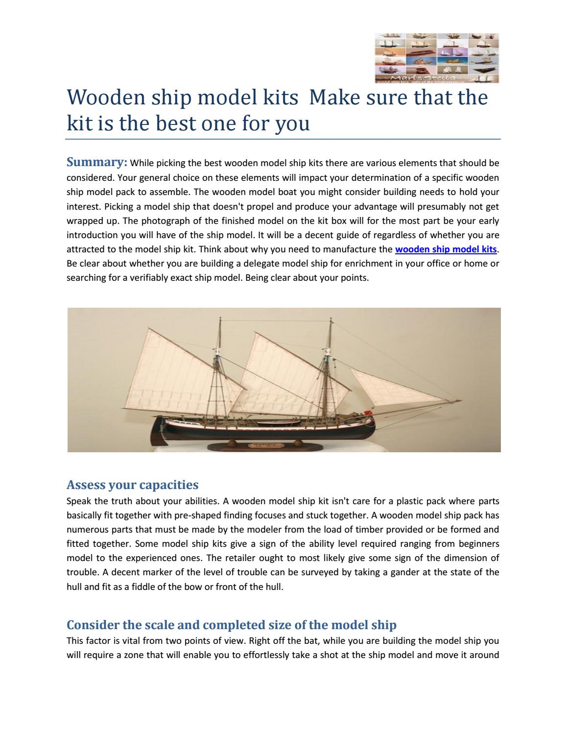 Wooden Ship Model Kits Make Sure That The Kit Is The Best