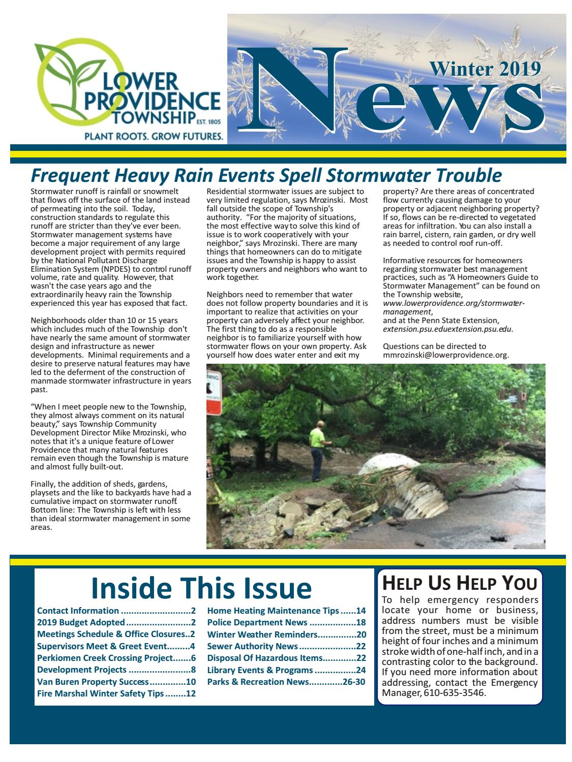 Lower Providence News Winter 2019 by Franklin Maps - issuu