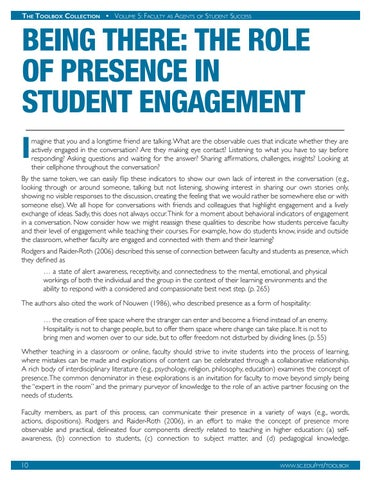 Page 11 of Being There: The Role of Presence in Student Engagement